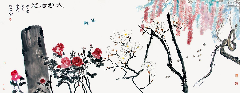 蝴蝶手绘作品庄周