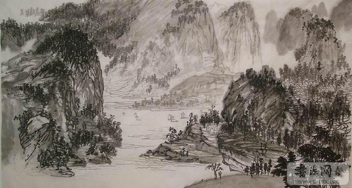 一幅6尺山水画的创作过程