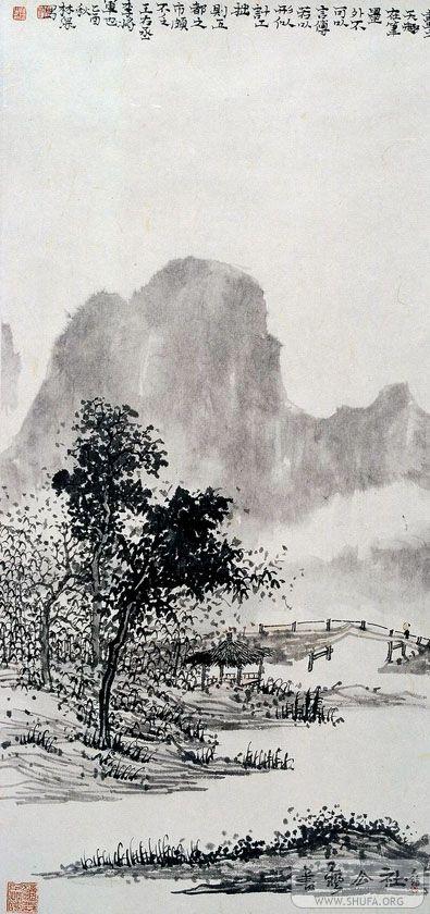 宋元精神画家林深的山水画