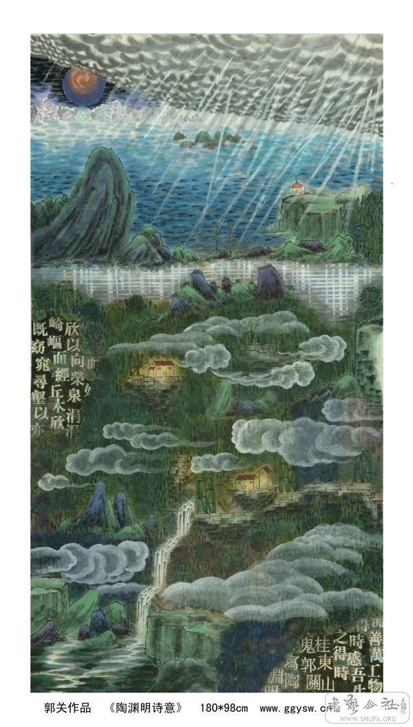 梦到天堂,著名画家郭关超现实主义绘画