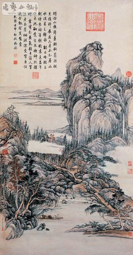 高仿系列之:清·张宗苍·山水图纵144.6cm 横73.5cm