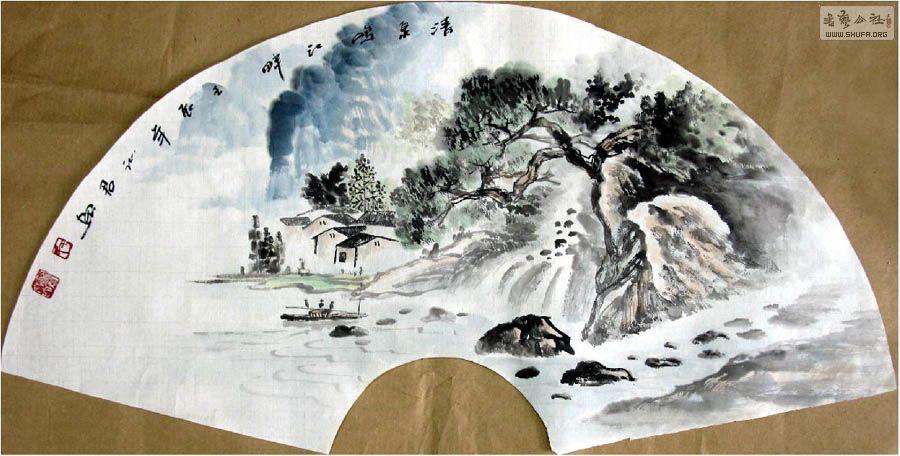 于沁君·扇面山水画21-15.jpg